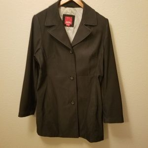 Esprit coat Black fitted Trench Coat Jacket size L